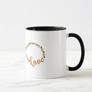Pearl Diamond Gold Infinity Love Mug