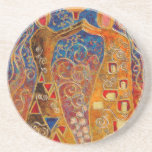 pearl divers (painting) drink coaster