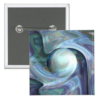 Pearl Diving 2 Inch Square Button