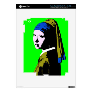 Pearl Earring ala Change Backgrnd Color) Decal For iPad 3