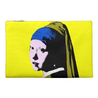 Pearl Earring ala Change Backgrnd Color) Travel Accessory Bag
