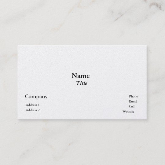 Pearl Finish Business Cards