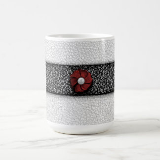 Pearl Flower and Lace Coffee Mug