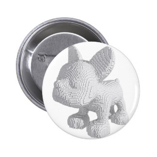 Pearl Frenchie 2 Inch Round Button