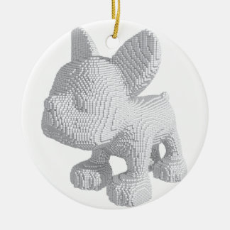 Pearl Frenchie Ceramic Ornament