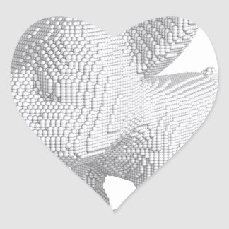 Pearl Frenchie Heart Sticker