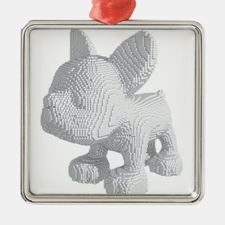 Pearl Frenchie Metal Ornament