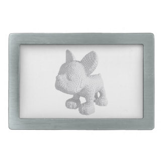 Pearl Frenchie Rectangular Belt Buckle