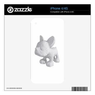 Pearl Frenchie Skin For iPhone 4
