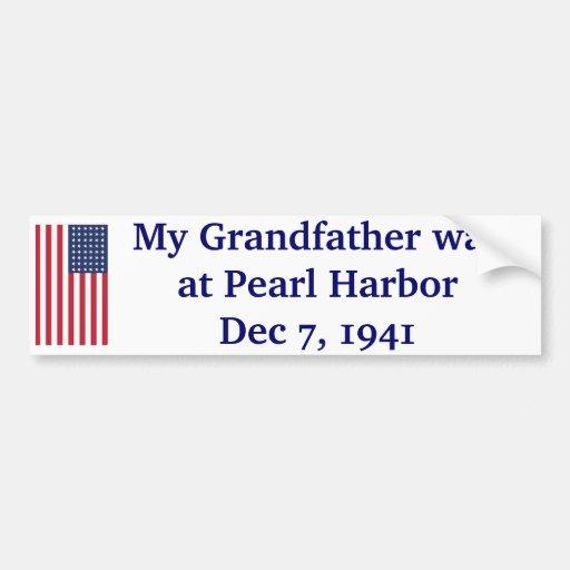 Pearl Harbor - 1941 Etiqueta De Parachoque