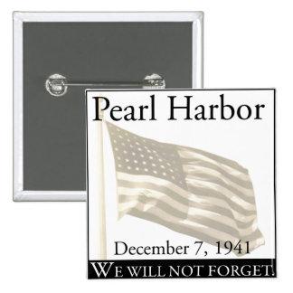 Pearl Harbor 2 Inch Square Button