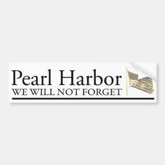 Pearl Harbor Pegatina De Parachoque