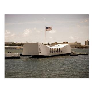Pearl Harbor del monumento de Arizona Tarjeta Postal