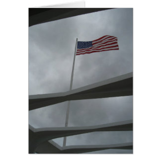Pearl Harbor Flag Card