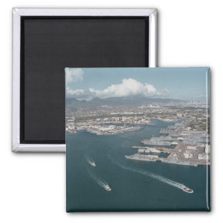Pearl Harbor Hawaii 2 Inch Square Magnet