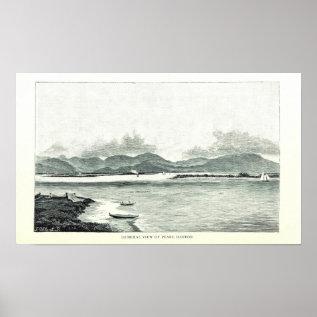 Pearl Harbor, Oahu, Hawaii 1890 Poster at Zazzle
