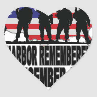 Pearl Harbor Remembrance Day L.png Heart Sticker