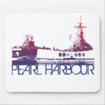 Pearl Harbour Skyline Design Mouse Pads