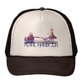 Pearl Harbour Skyline Design Trucker Hat