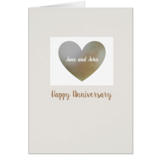 Pearl heart anniversary card- personalised card