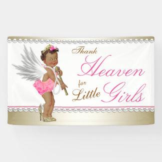 Pearl High Heel Princess Angel Ethnic Baby Shower Banner
