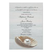 Pearl in a Shell Wedding Invitation