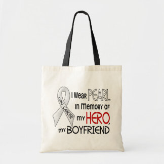 Pearl In Memory Of My Boyfriend Lung Cancer Tote Bag
