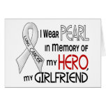 Pearl In Memory Of My Girlfriend Lung Cancer Greeting Card