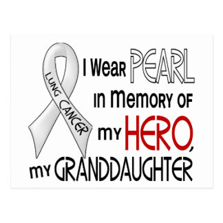 Pearl In Memory Of My Granddaughter Lung Cancer Postcard