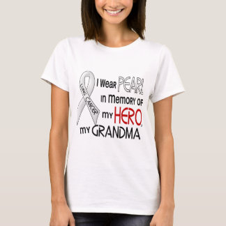 Pearl In Memory Of My Grandma Lung Cancer T-Shirt