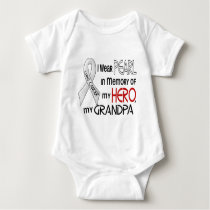 Pearl In Memory Of My Grandpa Lung Cancer Baby Bodysuit