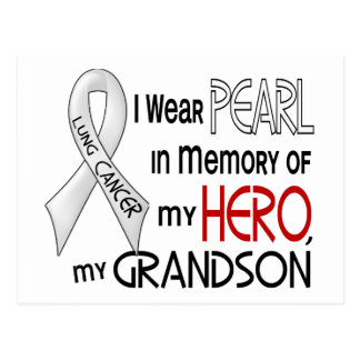 Pearl In Memory Of My Grandson Lung Cancer Postcard