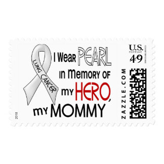 Pearl In Memory Of My Mommy Lung Cancer Stamps
