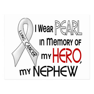 Pearl In Memory Of My Nephew Lung Cancer Postcard