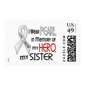 Pearl In Memory Of My Sister Lung Cancer Stamps
