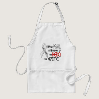 Pearl In Memory Of My Wife Lung Cancer Adult Apron