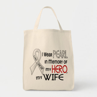Pearl In Memory Of My Wife Lung Cancer Tote Bag