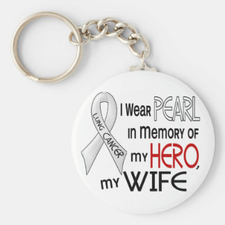 Pearl In Memory Of My Wife Lung Cancer Key Chain