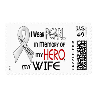 Pearl In Memory Of My Wife Lung Cancer Stamp