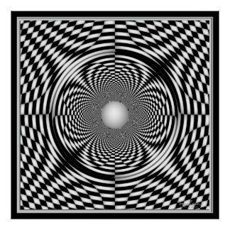 Pearl in Rotating Curved Space Poster