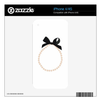 Pearl Jewelry Decal For The iPhone 4S