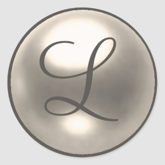 Pearl L monogram wedding seal