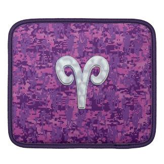 Pearl Like Aries Zodiac Symbol Digital Camouflage iPad Sleeve