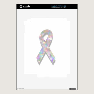 pearl lung cancer ribbon decal for iPad 2