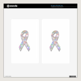 pearl lung cancer ribbon decal for kindle fire