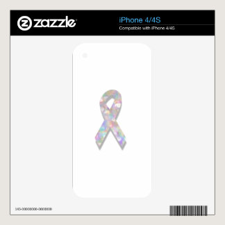 pearl lung cancer ribbon iPhone 4 decals