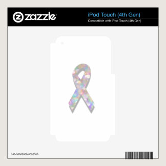 pearl lung cancer ribbon iPod touch 4G skins