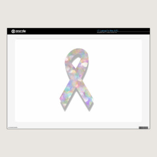 pearl lung cancer ribbon laptop decal