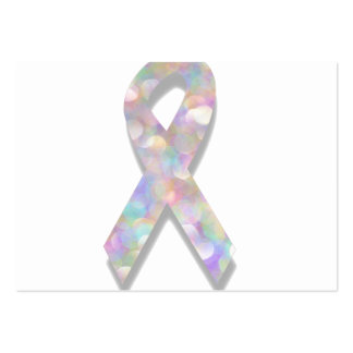 pearl lung cancer ribbon large business card