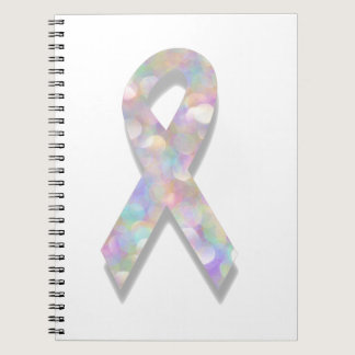 pearl lung cancer ribbon notebook
